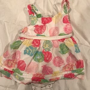 Lilly P seashells size 3-6 months GUC